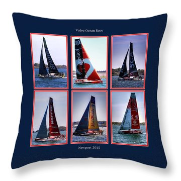 Volvo Ocean Race Newport 2015 Throw Pillow