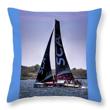 Volvo Ocean Race Team Sca Throw Pillow