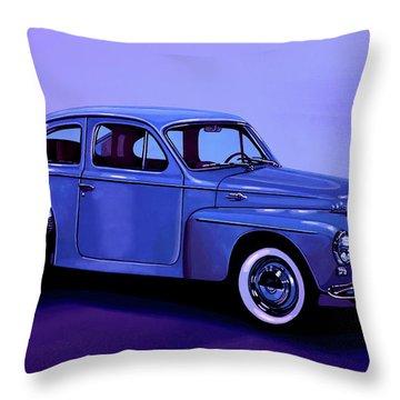 Volvo Pv 544 1958 Mixed Media Throw Pillow