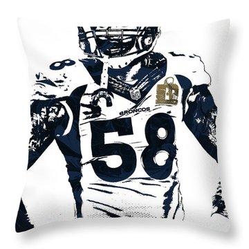 Von Miller Denver Broncos Pixel Art 2 Throw Pillow
