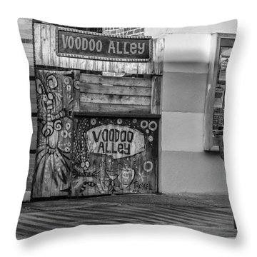 Voodoo Alley Throw Pillow