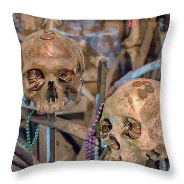 Voodoo Altar Throw Pillow