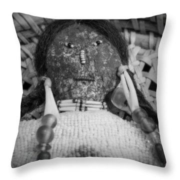 Throw Pillow featuring the photograph Voodoo Girl by Lynn Sprowl