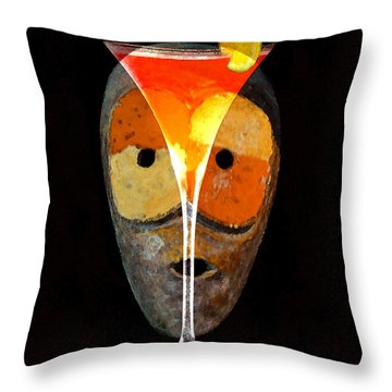 Throw Pillow featuring the painting Voodoo Martini by David Lee Thompson