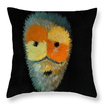 Voodoo Mask Throw Pillow