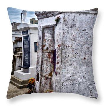 Voodoo Queen Marie Laveau's Tomb Throw Pillow