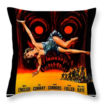 Voodoo Woman, Horror Movie Poster Throw Pillow