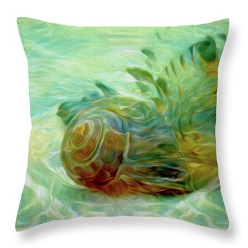 Throw Pillow featuring the mixed media Vortex 8 by Lynda Lehmann