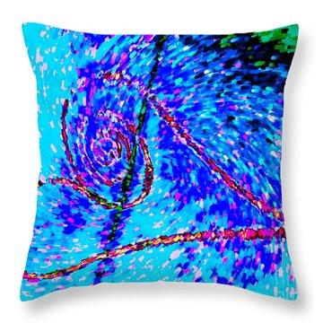Vortex Heart Love Throw Pillow