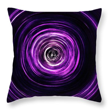 Vortex Into The Unknown Throw Pillow