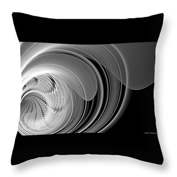 Throw Pillow featuring the digital art Vortex by Linda Whiteside