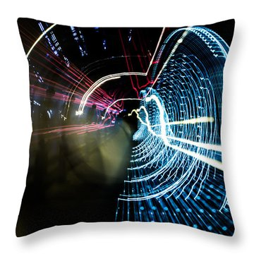 Throw Pillow featuring the photograph Vortex by Micah Goff