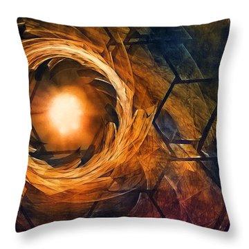Vortex Of Fire Throw Pillow