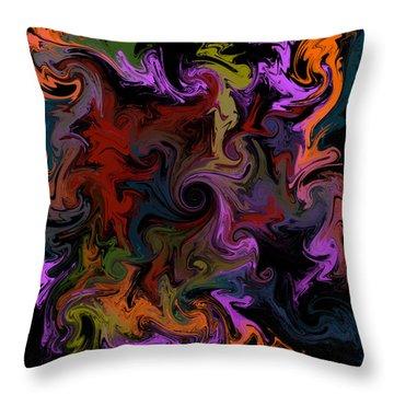 Throw Pillow featuring the digital art Vortex One by Iowan Stone-Flowers