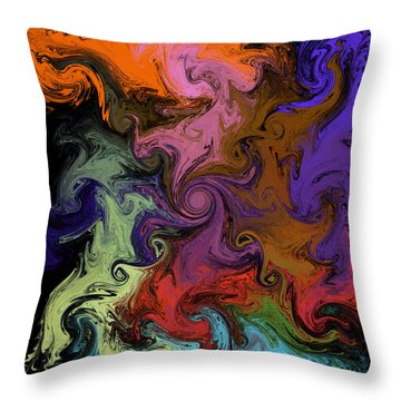 Throw Pillow featuring the digital art Vortex Two by Iowan Stone-Flowers