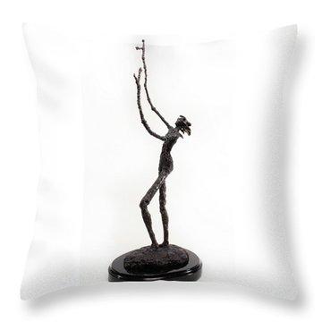 Votary Of The Rain A Sculpture By Adam Long Throw Pillow by Adam Long