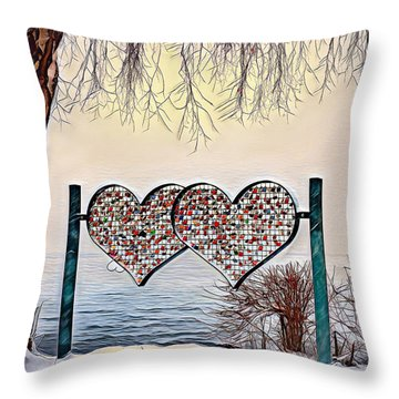 Throw Pillow featuring the digital art Vow Of Love by Pennie McCracken