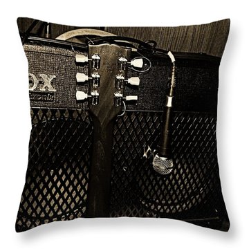 Vox Amp Throw Pillow