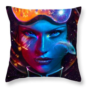 Voyager Beyond The Clouds Throw Pillow