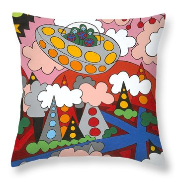 Voyager Throw Pillow by Rojax Art