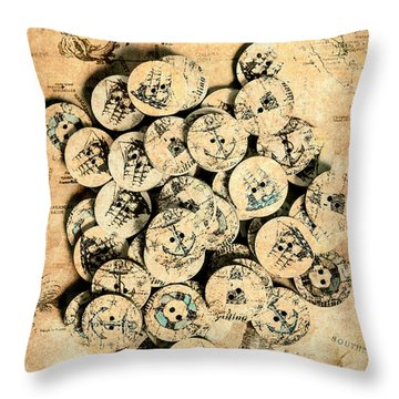 Voyages Of Old World Throw Pillow