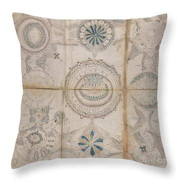 Voynich Astro 3x3 Throw Pillow