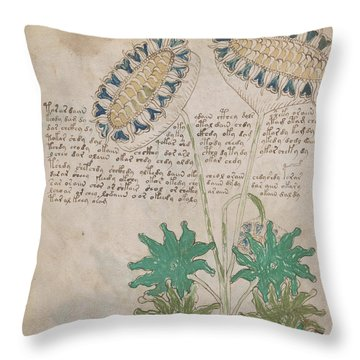 Voynich Flora 04 Throw Pillow