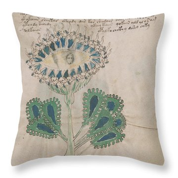 Voynich Flora 11 Throw Pillow