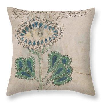 Voynich Flora 11 Throw Pillow