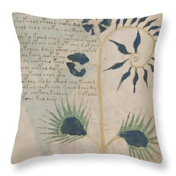 Voynich Flora 12 Throw Pillow