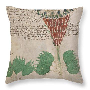 Voynich Flora 15 Throw Pillow