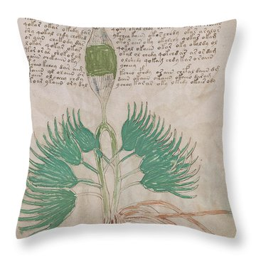 Voynich Flora 16 Throw Pillow