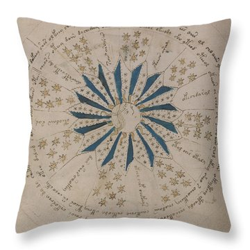 Voynich Manuscript Astro Rosette 1 Throw Pillow
