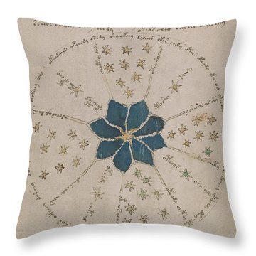 Voynich Manuscript Astro Rosette 2 Throw Pillow
