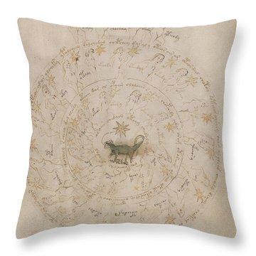 Voynich Manuscript Astro Scorpio Throw Pillow