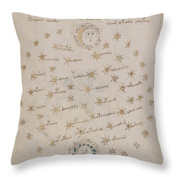 Voynich Manuscript Astro Sun And Moon 1 Throw Pillow