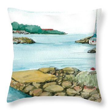Throw Pillow featuring the painting Vp Norway 11 Thorsastraen by Lynn Babineau