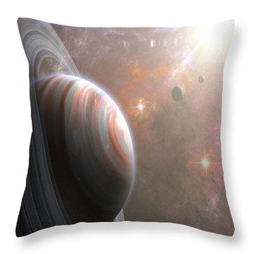 Vulcan Throw Pillow by Mark T Allen