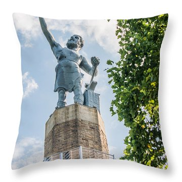 Vulcan On A Sunny Day Throw Pillow