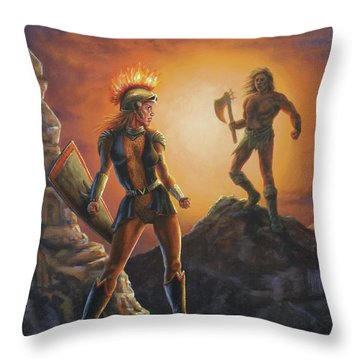 Vulcana  Throw Pillow
