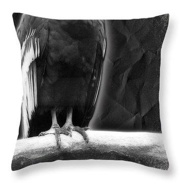 Vulture Throw Pillow by Svetlana Sewell