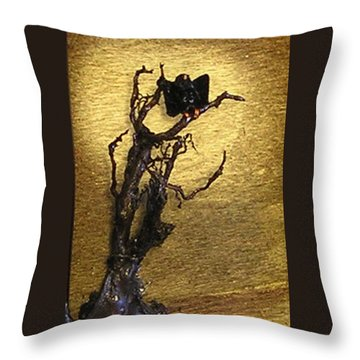 Vulture With Textured Sun Throw Pillow