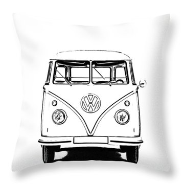Throw Pillow featuring the photograph Bus  by Edward Fielding