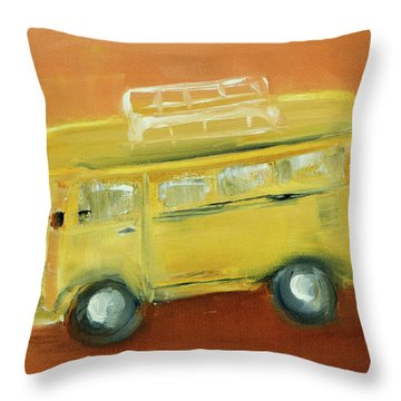 Vw Bus Throw Pillow