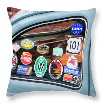 Throw Pillow featuring the photograph Vw Club by Chris Dutton