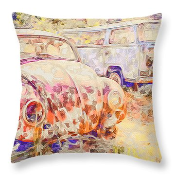 Vw Rest Home Throw Pillow