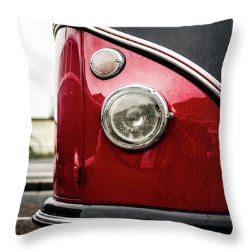 Throw Pillow featuring the photograph Vw Split Screen Camper by Will Gudgeon
