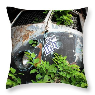 Vw Van Wall Throw Pillow by Nola Lee Kelsey