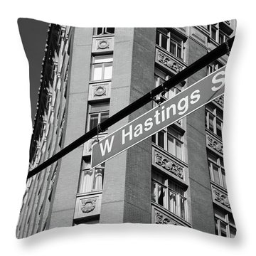 W Hastings Street  Throw Pillow