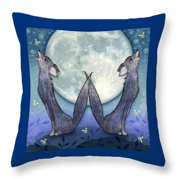 W Is For Wolves Throw Pillow